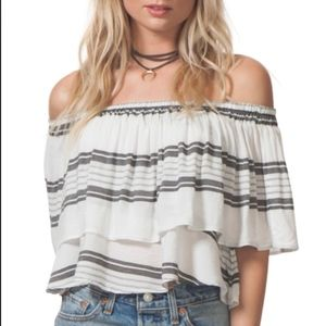Tops - NWT Nordstrom Rip Curl Off the Shoulder Top